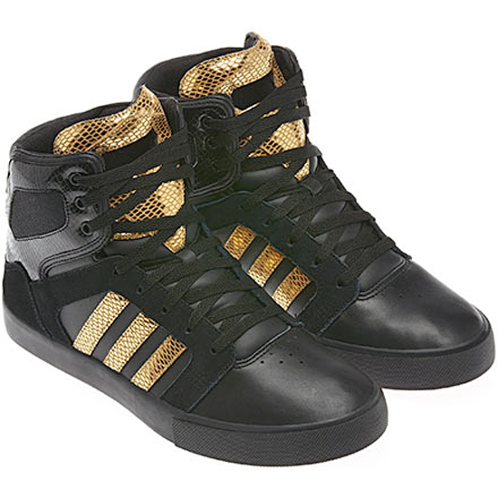 adidas high tops black and gold