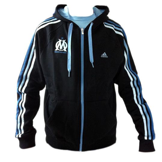 adidas cr ess 3s olympique marseille hoodie core essential. Black Bedroom Furniture Sets. Home Design Ideas