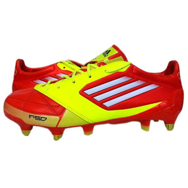 499ac2138d0 Adidas F50 Adizero XTRX SG Lea Schuhe Fußballschuhe Leder GR 44 Rot Gelb