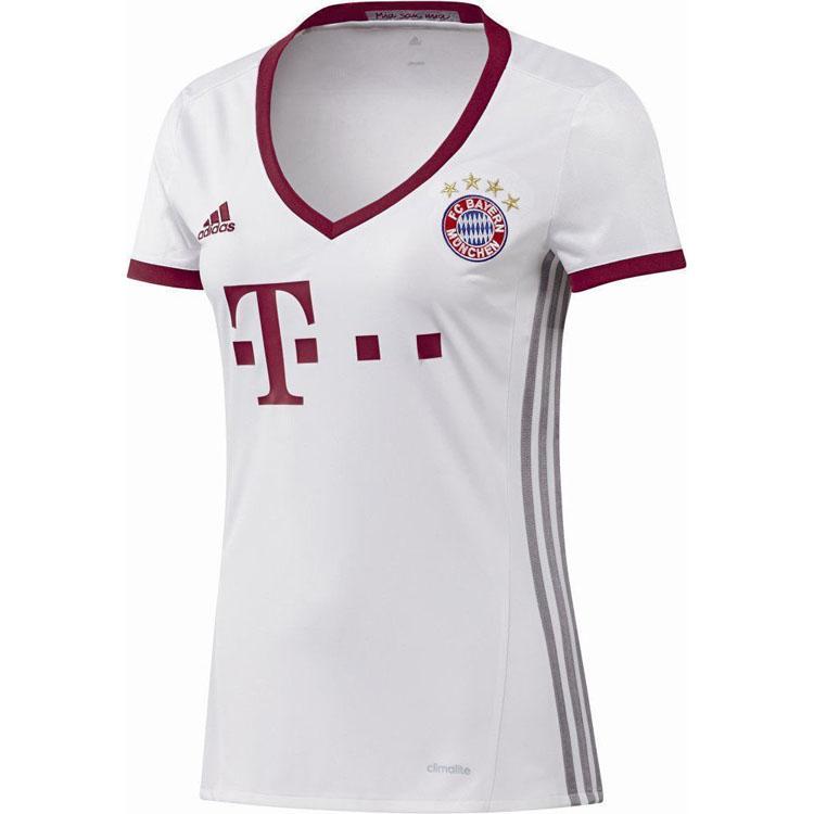 Adidas Fc Bayern Munich Ladies Fcb Munich Ulc Jersey T Shirt White Red Football Ebay
