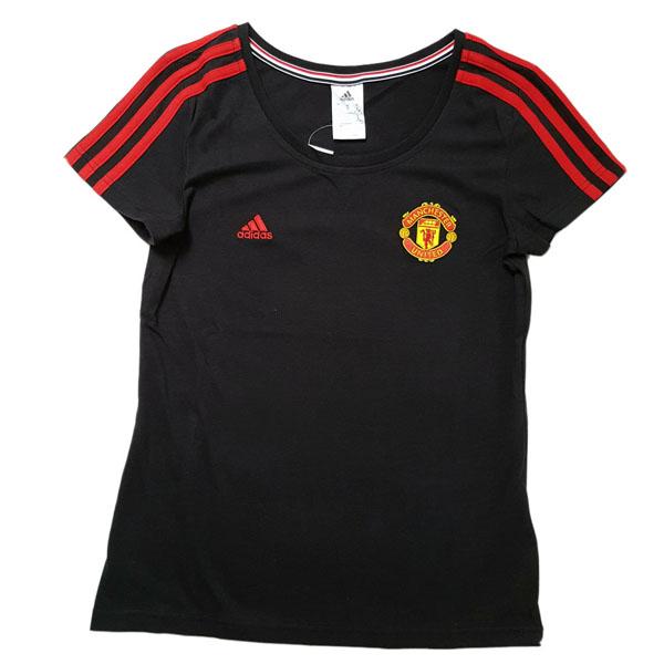 Details About Adidas T Shirt Manchester United Fc 3 Stripes Women S Black Size S M L Xl Xxl
