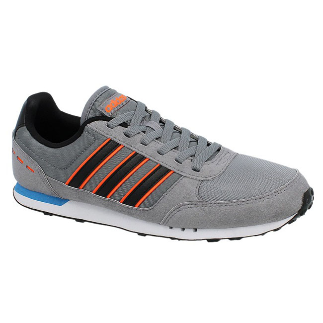 100% authentic 4cc67 f91b4 Details about Adidas Neo City Racer Shoes Sneakers Trainers Grey Leather  Textile