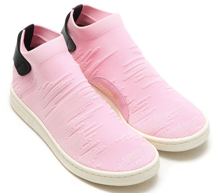 best website 9b6f0 7d493 Details about Adidas Ladies Stan Smith Sock Pk W Trainers Sneakers Trainers  Pink Fabric New