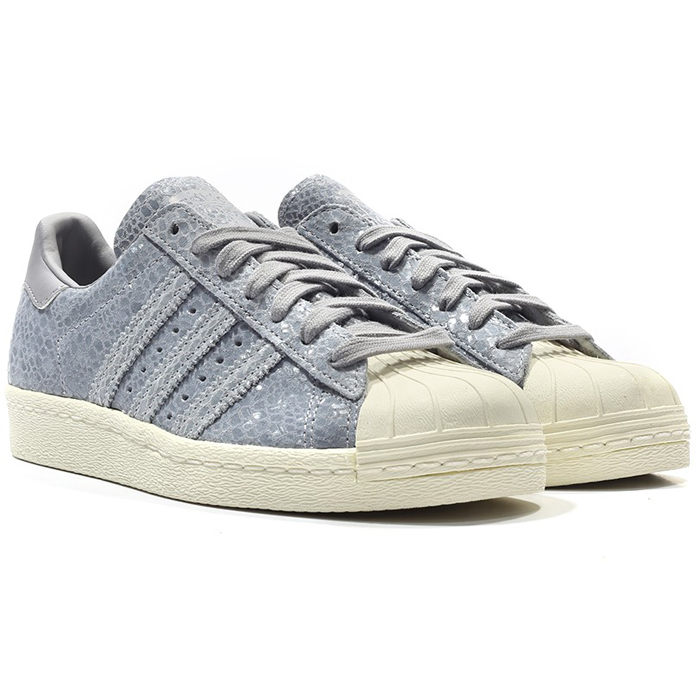 huge discount d9345 a4ceb Details about Adidas Originals Superstar 80S W Trainers Shoes Trainers Grey
