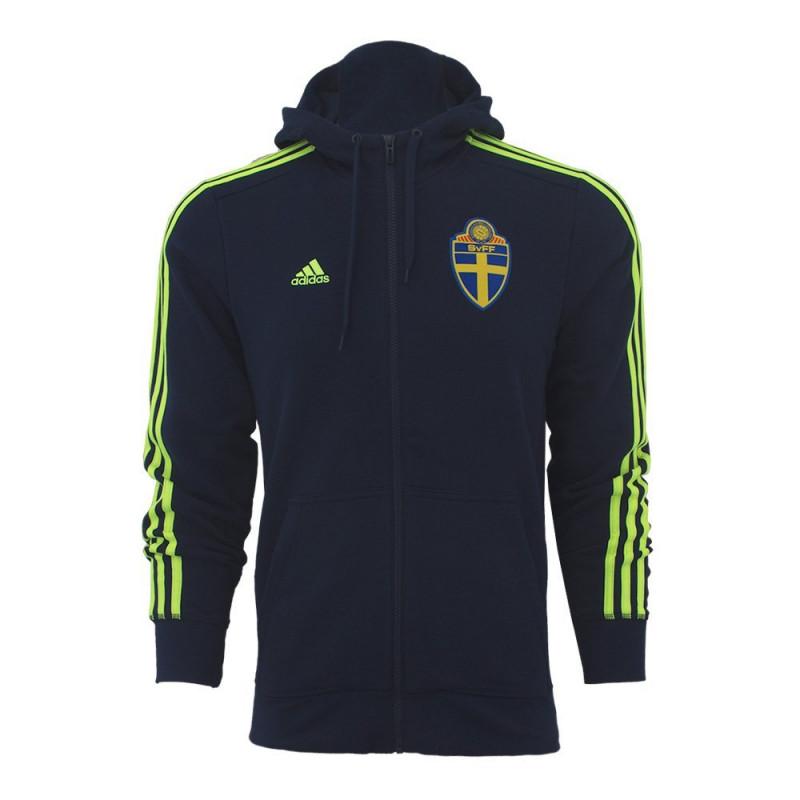 Details about Adidas SVFF 3s Hood Sweden Sweden Hoodie Jacket Sweat Jacket Blue Hooded show original title