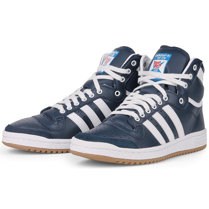 adidas top ten hi shoes trainers blue white gum new. Black Bedroom Furniture Sets. Home Design Ideas