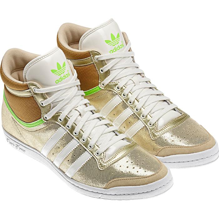adidas top ten hi sleek w shoes trainers size 36 42 gold. Black Bedroom Furniture Sets. Home Design Ideas