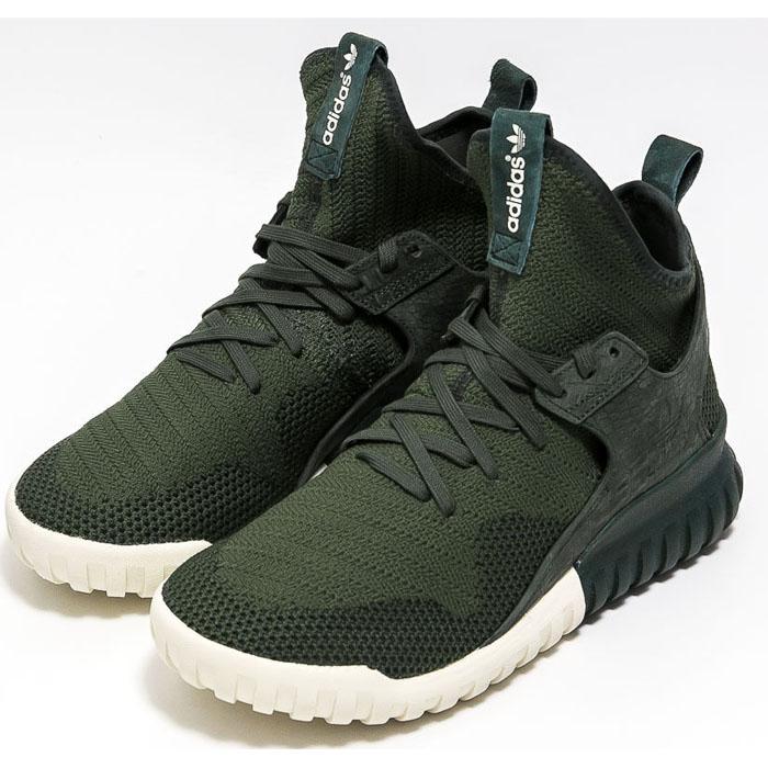 Details zu Adidas Tubular X PK Primeknit Trainers Turnschuhe Sneaker grün Schuhe NEU
