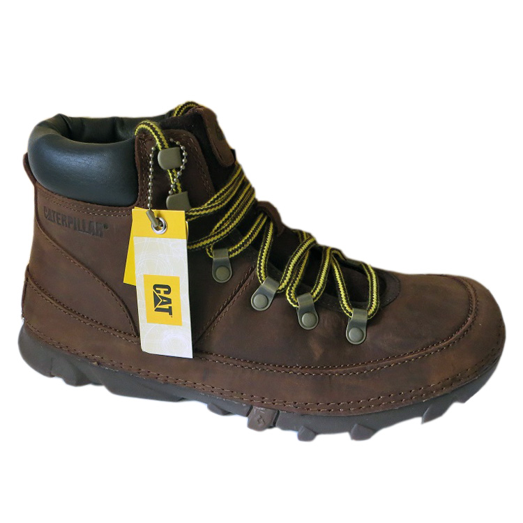 ad1a9ab2ce8e6 Caterpillar Brockton Schuhe Boots Stiefel Herren braun Leder CAT ...