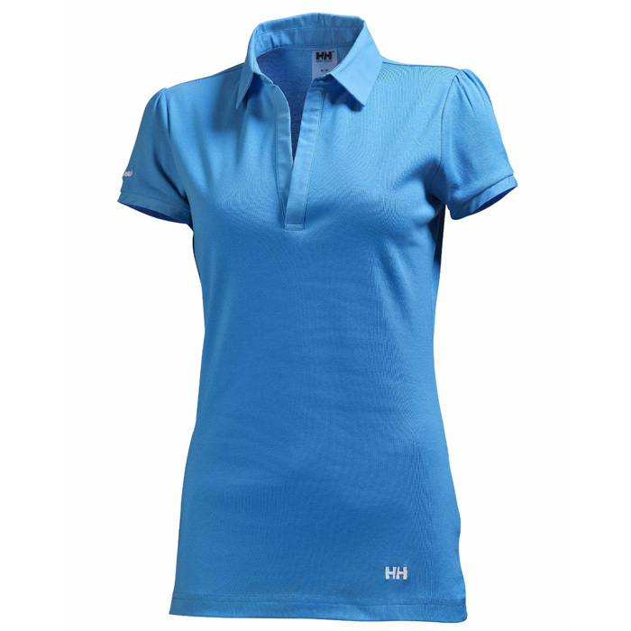 helly hansen w breeze polo ladies size xs 34 36 blue. Black Bedroom Furniture Sets. Home Design Ideas