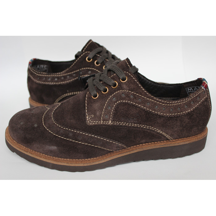 marc razor shoes lace up loafers suede brown mens size 40 46 new ebay