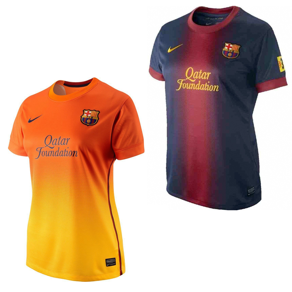 levantar cámara condensador  Nike FC Barcelona Jersey Jersey Shirt Ladies Football New | eBay