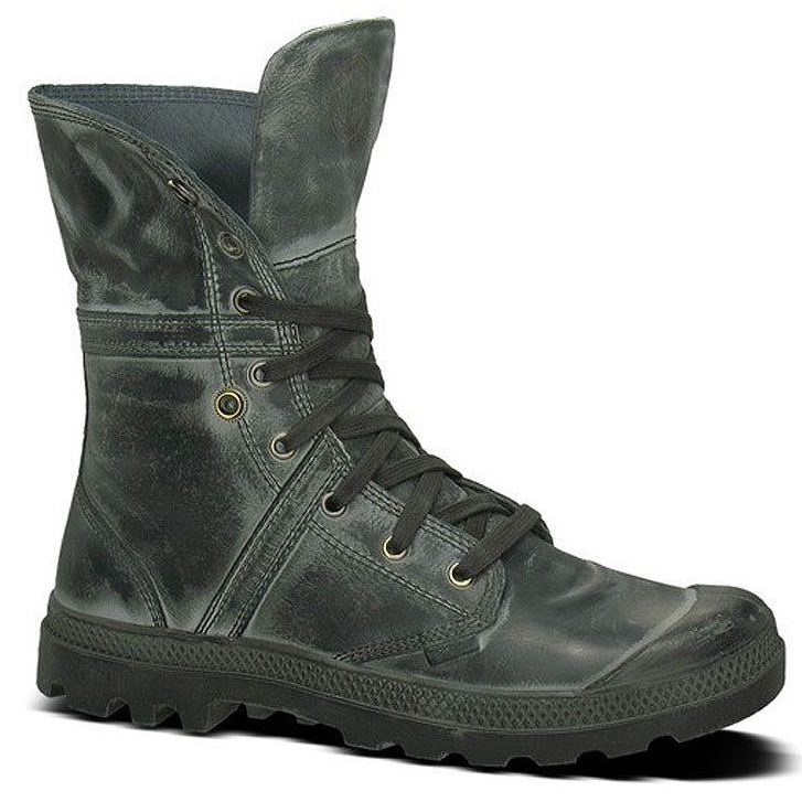 palladium pallabrouse baggy l2 boots schuhe leder herren stiefel shadow metal ebay. Black Bedroom Furniture Sets. Home Design Ideas
