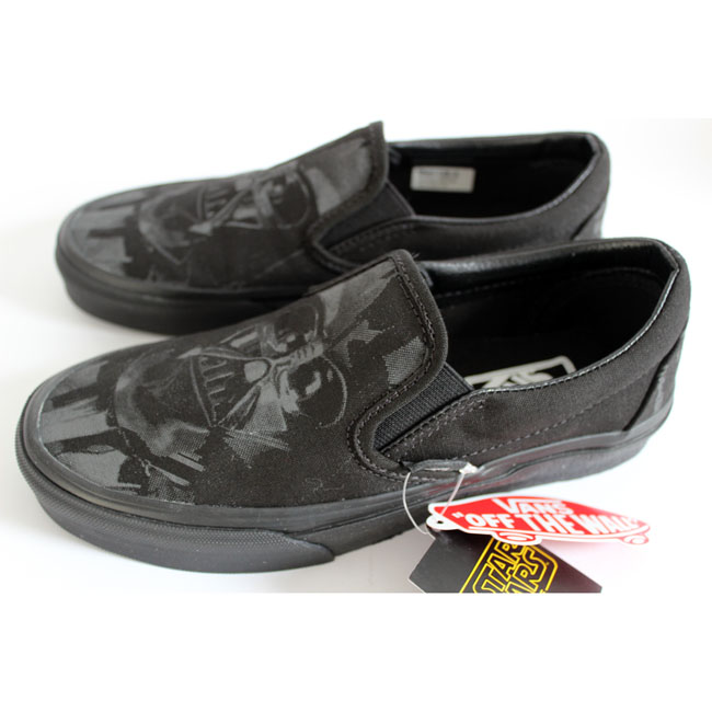 vans classic slip on star wars darth vader schuhe sneaker turnschuhe slipper ebay. Black Bedroom Furniture Sets. Home Design Ideas